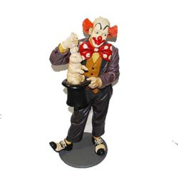 Clown Pulling Rabbit From Hat