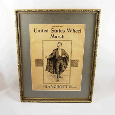 Bancroft Framed Sheet Music