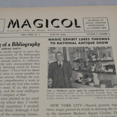 Magicol Series one complete file: Magic Collectors Association 1950-1952