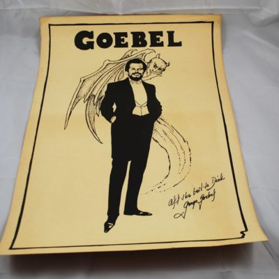 George Gobel Autographed Poster