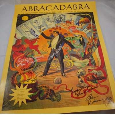 Signed 1994 Abra Cadabra Poster: Cincinnati Ohio signed by all of the cast