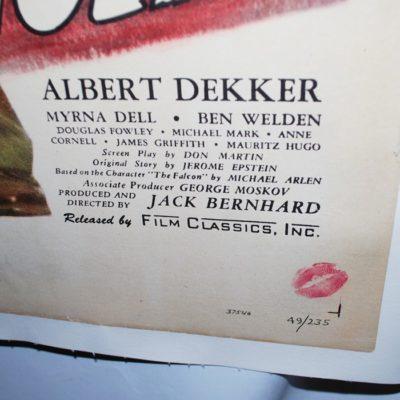 Original John Calvert the Falcon Series: Search for Danger Movie Poster 1949 A- condition