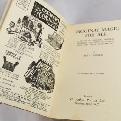 Original Magic For All: Bert Douglas 1927: C. Arthur Pieron Limited Great Brittian
