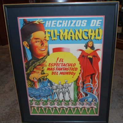 Original Fu Manchu Half Sheet framed poster