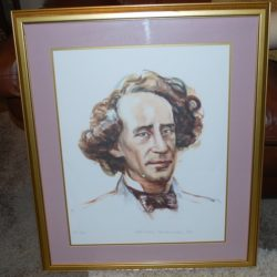 Johann Hofiznger limited edition Portrait framed