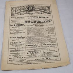 Alexander Herrmann Advertisement Program Boston Museum August 7th, 1886