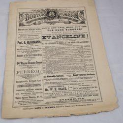 Alexander Herrmann Advertisement Program Boston Museum August 7th, 1886