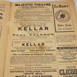 Harry Kellar and Paul Valadon program: Majestic Theater 1905 rare