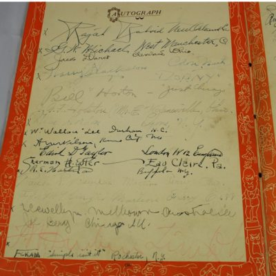 Spectacular 1927 IBM Convention book loaded with exceptional autographs!