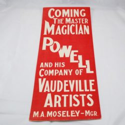 Powell Original window card poster