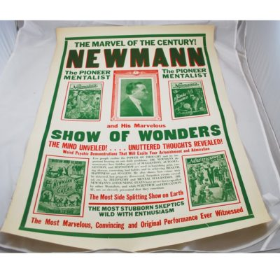 Original Newmann poster: outstanding condition: half sheet