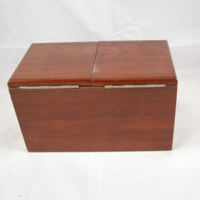 Quality Vintage piano hinged double door die box