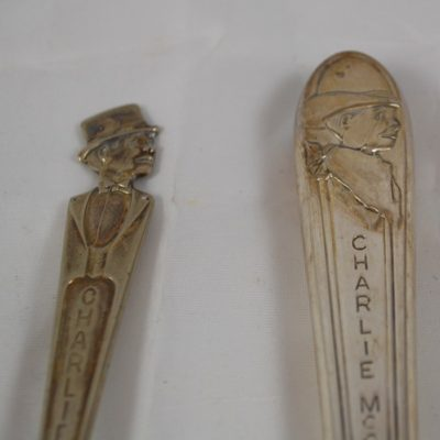 VIntage Charlie McCarthy Knife and Spoon