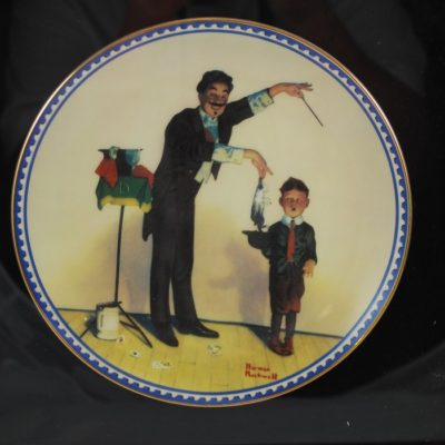 "Normal Rockwell ""The Magician"" Plate in display case"