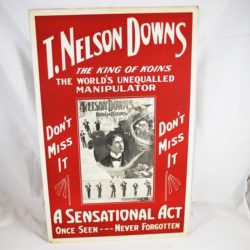 T. Nelson Downs Window Card circa 1931