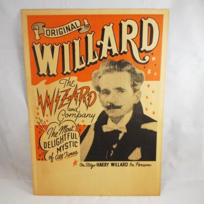 Original Willard window card: scarce