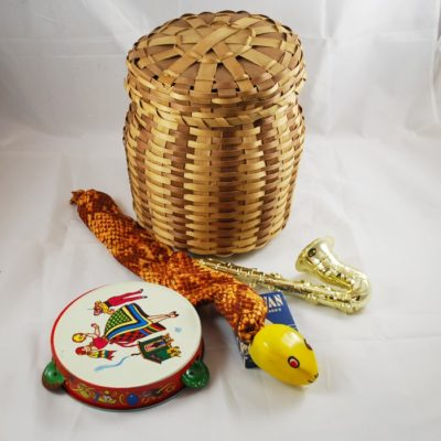 The repeating snake basket from Abbott's: Vintage late 60's Pristine