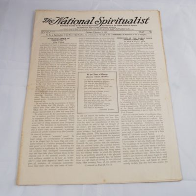 Ed Saint owned Spiritualism Newspaper 1937
