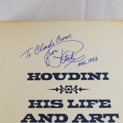 Houdini: His Life and Art: Randi autographed by the author