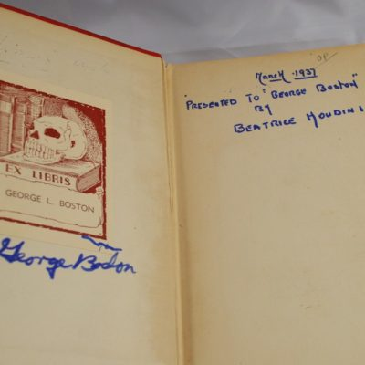 Miracle Mongers and their methods: George Boston copy given to Him by Bess Houdini 1937