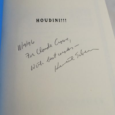 Houdini by Silverman autographed by the author