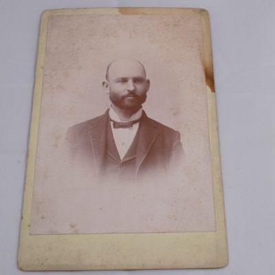 Photo of Ed saints father 1899 with Manuscript on Saint
