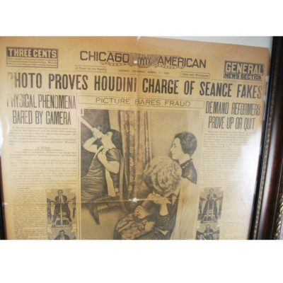 Houdini Minnie Reichert Séance exposure Chicago American 1926