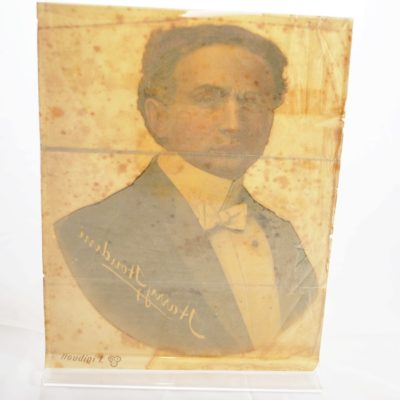 Original Houdini bust window Decal: very rare