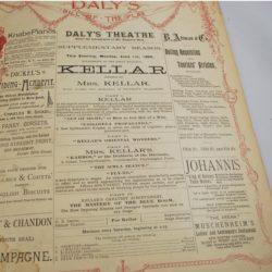 Kellar Daly THeater Program June 1896