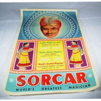 Original Sorcar Poster from 1950: half sheet