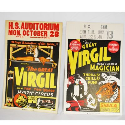 Virgil early window cards (1934 and 1942)
