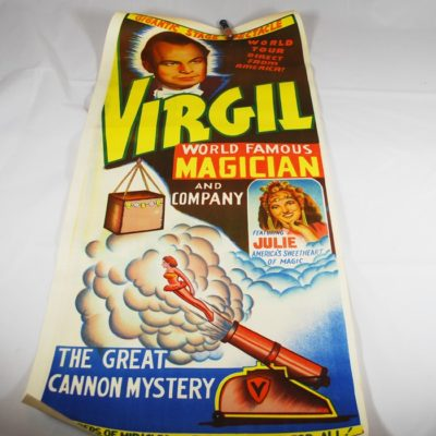 Virgil full color Cannon Mystery panel poster
