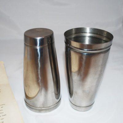 Merv Taylor cocktail shaker foo canister set: rare