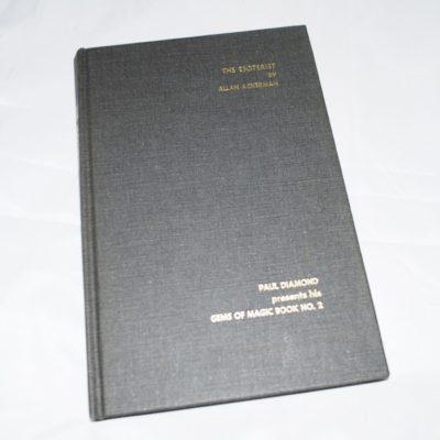 Autographed The Esoterist by Alan Ackerman 1971 Paul Diamond Gems of Magic book 2