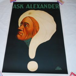 ALexander Quesiton Mark Original Stone lithograph Poster