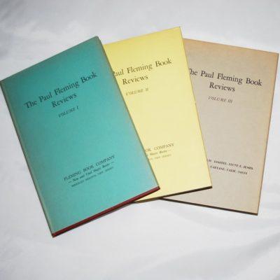 The Paul Fleming Book Reviews Three volumes