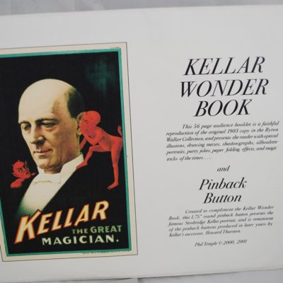 Kellar wonder book and pinback button 2001 Phil Temple