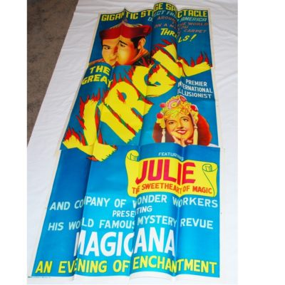 VIrgil Three Sheet poster 1950's: just as it came from the printer!