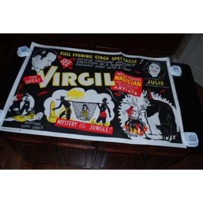 VIrgil One sheet Jungle Poster: 1950's