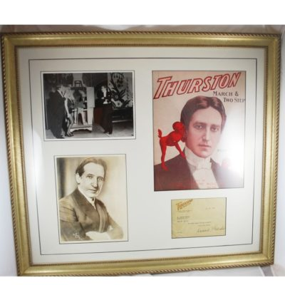 Howard Thurston autographed collage: all original material