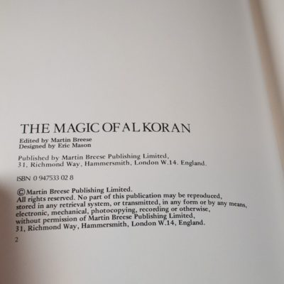 The Magic of Al Koran: first edition