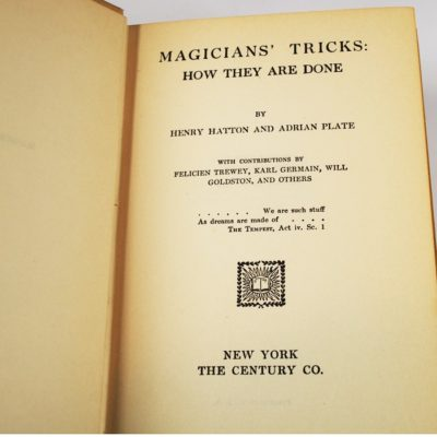 Magicians tricks and how they are done: 1910