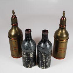 Antiquarian small passe passe bottles circa 1880.
