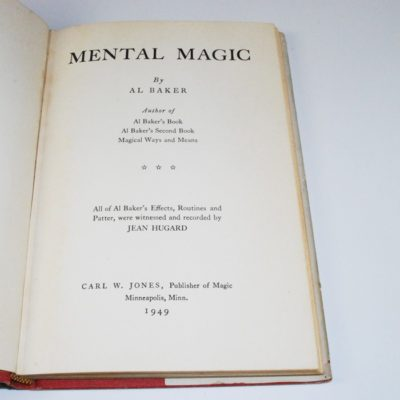 How to perform mental magic by AL Baker