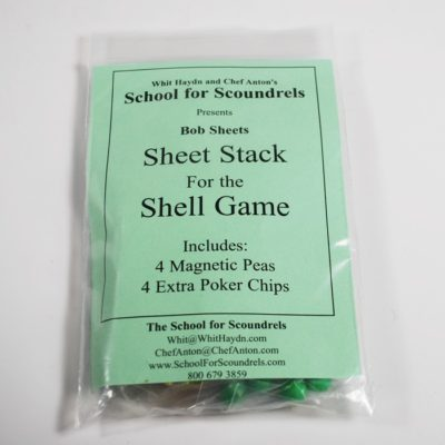 Bob Sheets Sheet Stack for the Shell Game: School for Scoundrels
