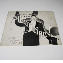 autographed Little Johnny Jones 1939 book: so you want to be a magician