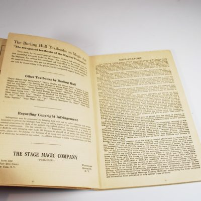 Crystal Gazing and Mind reading acts: Burling Hull 1927