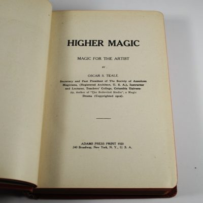 Higher Magic by Oscar Teale: 1920