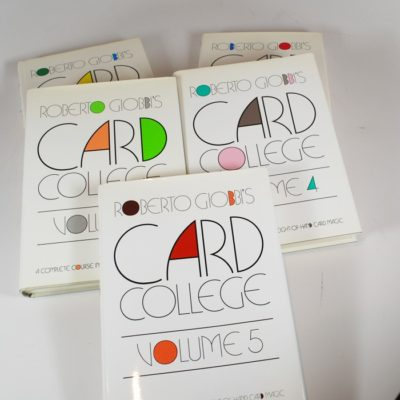 Card College al five volume: all first editions Robert Giobbi