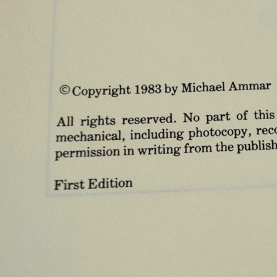 Encore three by Michael Ammar: first edition